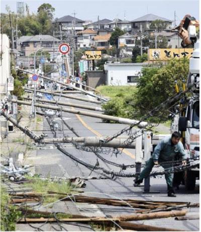 大阪での台風21号の被害