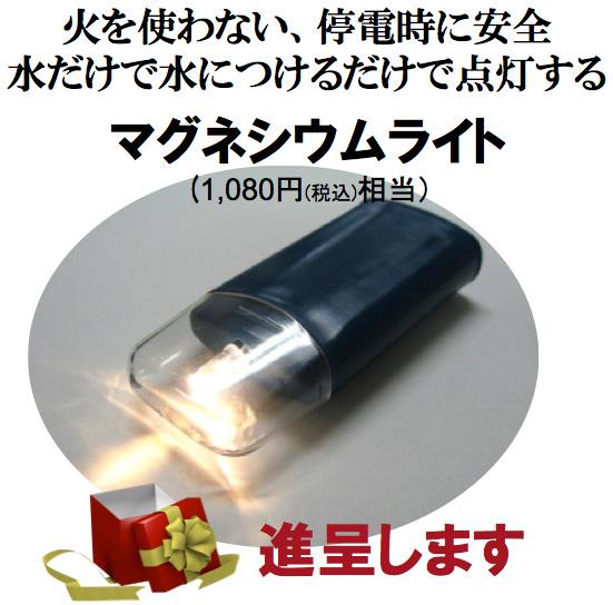 マグネシウムライトをプレゼント